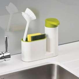 Organizador de esponjas y dispensador de jabón