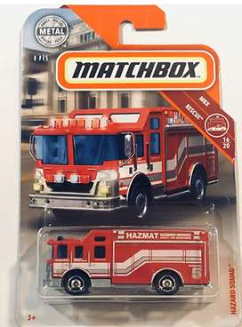 Matchbox 2019 Hazard Squad Red #60/100 MBX /Rescue 16/20 Fire Truck Motor Play Vehicle 1:64 Scale Die Cast