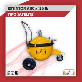 EXTINTOR ABC MULTIPROPOSITO X 150 LB TIPO SATELITE