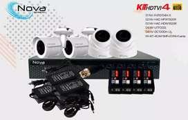 Kit de 4  Camaras  nova  1080 full hd completo instalado con dos años de garantia