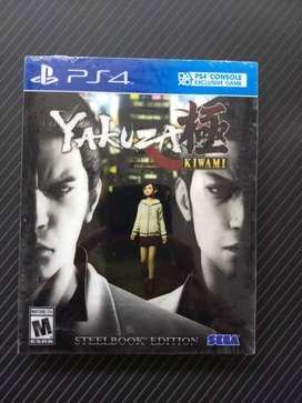 Yakuza Kiwami Steelbook Edition - Juego PS4 original, nuevo y sellado