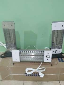 Estufa electrica cuarzo 600w 2 velas vertical y horizontal