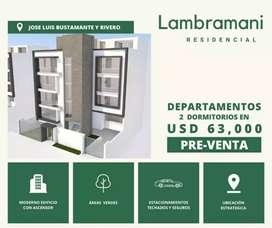 Vendo Departamento Jose Luis Bustamante y Rivero , Lambramani en Urbanizacion Privada de 02 hab. PRECIOS DE PREVENTA