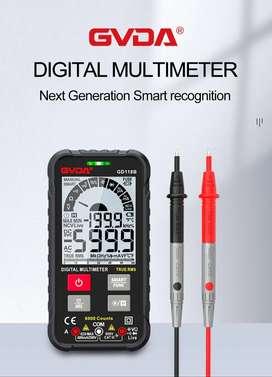 Multímetro digital inteligente GVDA, probador de voltaje de 600V, RMS, AC, DC, NCV, Ohm, capacitancia, Hz, continuidad.