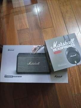 Parlante Marshall Stanmore + Audifonos Marshall Monitor Fx