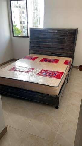 Base camas con su respectivo colchón