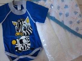toalla y body bebés