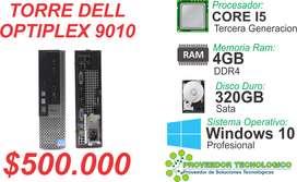 TORRE DELL OPTIPLEX 9010 COREI5  3RA GENERACION RAM 4GB DDR3 DISCO 320GB