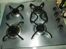 cubierta de empotrar acero inoxidable estufa haceb