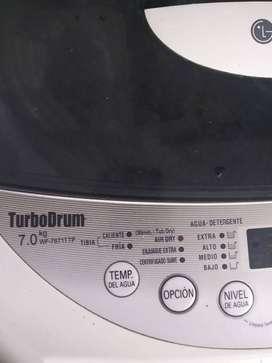 Lavarropa LG automático turbo Drum