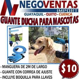 GUANTE DE DUCHA PARA MASCOTA CON MANGUERA INCLUIDA