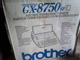 Maquina De Escribir Eléctrica Brother Gx-8750 (precio negociable)