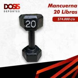 Mancuerna/Pesa en hierro 20 Libras Hexagonal