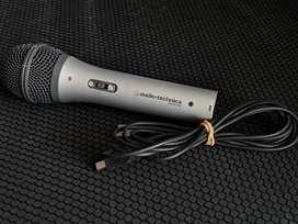 Micrófono USB/XLR Audio Technica Dinámico ATR 2100 Con Cable USB Y Caja