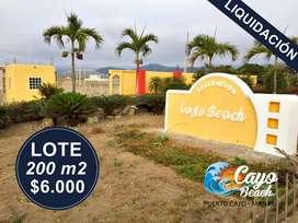 LIQUIDACIÓN DE LOTES PLAYEROS, 200M2 A 6.000 USD, ESCRITURAS INMEDIATAS, APRESURATE. S1