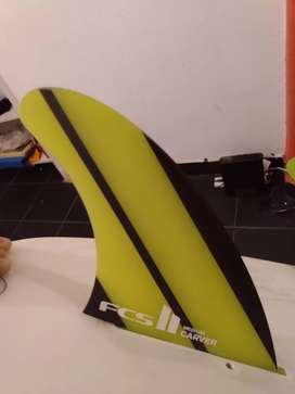 Quillas surf FCS II carver Neo glass usadas permuto