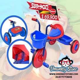 Triciclo para niño juguete diversión alegría