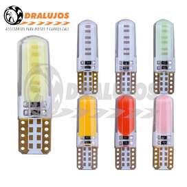 4 Cocuyo,bayoneta,bombillo Luz Led T10 Colores Fijo Moto/Carro SKU: COCU10