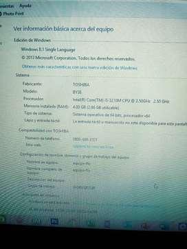 Toshiba i5 4.00 gb de RAM