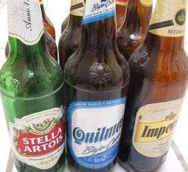 Envases de cerveza retornables vacios varias marcas