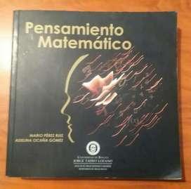 Libro de Matemáticas. Pensamiento Matemático.Mario Pérez y Adelina Ocaña.