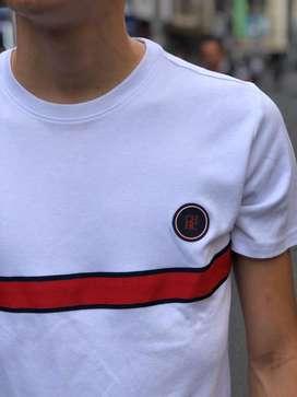 Camisetas Carolina Herrera Blanco Rojo Envio Gratis
