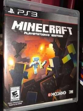Minecraft PS3 fisico usado en impecable estado!