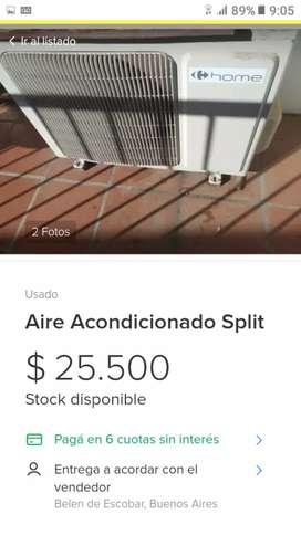 "aire acondicionado 2500 fr. marca ""Home"""