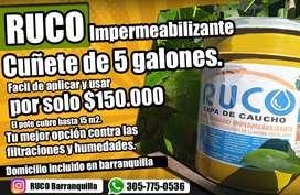 Impermeabilizante RUCO ideal para combatir filtraciones y el salitre