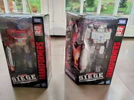 Transformers War for Cybertron: Siege Voyager Wave 1 Juego de 2 figuras