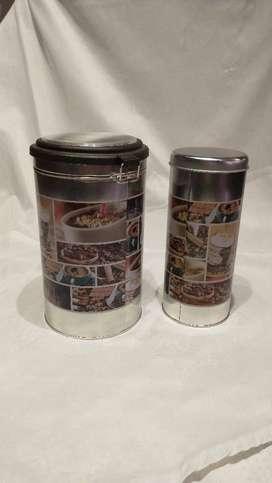Set de 2 latas , usos varios.