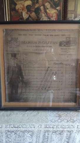 antigua boleta o factura