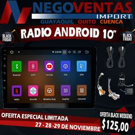 RADIO ANDROID DOBLE DIN 10""