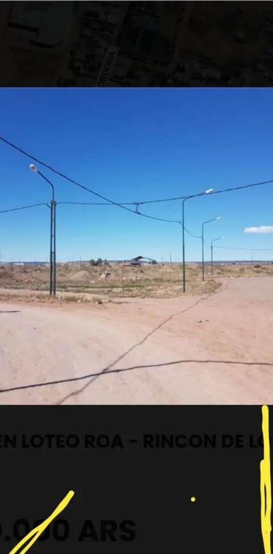 Vendo terreno de 344 mts en loteo Roa en Rincón de los Sauces
