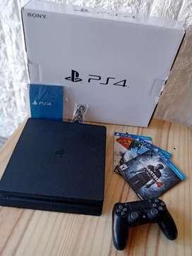 Vendo PS4 500gb, 1 joystick, 3 juegos.