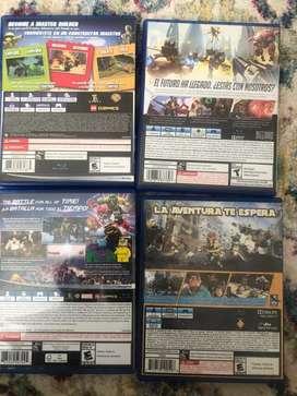 Juegos Ps4 Play 4 Lego, worlds Overwatch, marvel super heroes 2, Knack,
