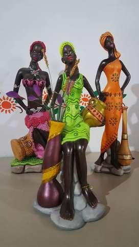 Juego de Africanas en cerámica