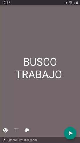 BUSCO TRABAJO URGENTE
