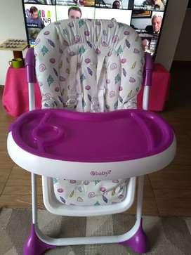 Silla comedor para bebe niña