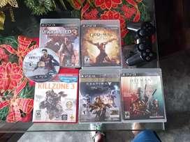 6 juegos de PS3 y un control