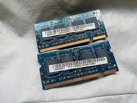 Memorias RAM DDR2 Netbook/Notebook