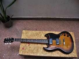 Guitarra Eléctrica Samick Sg Impecable Estado Con Funda