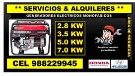 ALQUILER DE GENERADORES ELECTRICOS-MOQUEGUA