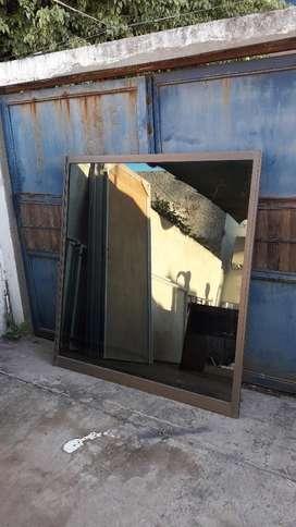 Ventanas Alum Marron con Vidrio Espejado