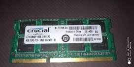 Memoria ram DDR3 4 gbs para PC portátil
