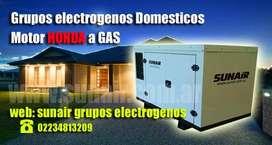 grupo electrogenos domestico a gas natural. Motor Honda.