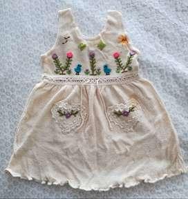 Vestido ORGÁNICO talla 0 bebe niña (1 año)