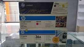 Cartuchos para impresoras Hp laser nuevos y originales baratos