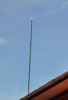 2 Antenas Wifi 8mts Altura 30mts Cable