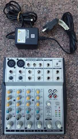 Consola Mixer Behringer Ub802 Eurorack